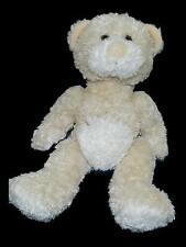 Just Friends Cream Beige Teddy Bear Plush Stitches Tummy Stuffed Animal Lovey