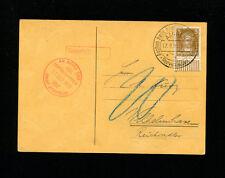 ZeppelinSieger 34g 1929 2ndGermanyFlightBordpostGermanyPost Aachen DropUnderpaid