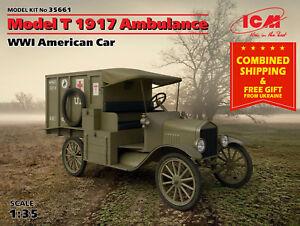 ICM 35661 - 1/35 American Car T 1917 Ambulance, WWI, plastic model kit scale