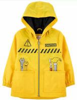 Osh Kosh B/'gosh Boys Bright Yellow Fleece Lined Jacket Size 2T 3T 4T 4 5//6 7