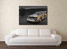 AUDI S1 Quattro - 30x20 pulgadas lienzo enmarcado cuadro Rally Impresión Ari Señor Vatanen nos