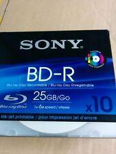 Sony BD-R 25GB 6x, 10 Pack printable (10BNR25BPS)