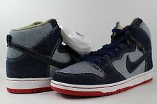 Nike SB Dunk High TRD QS REESE FORBES DENIM MIDNIGHT NAVY Red Size 12 Denim