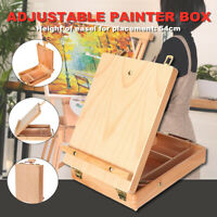Wooden French Tripod Easel Portable Foldable Sketch Table Box Art Painter