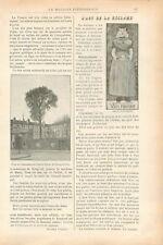 Tilleul de Sully Publicité Réclame de Mucha Art Nouveau Job GRAVURE PRINT 1899