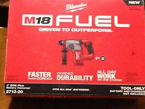 """M18 FUEL18v Brushless Cordless 1"""" SDS-Plus Rotary Hammer"""
