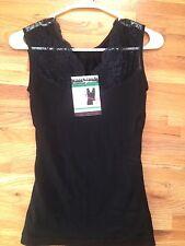 Women's Double Layer V Neck Thermal Vest Tummy Shaper Sleeveless Tank Top Sz S/M