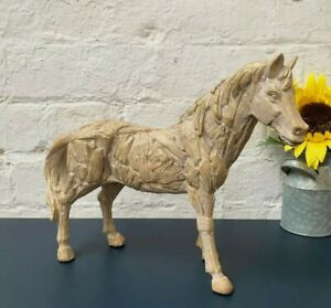 Leonardo Driftwood Effect Standing Horse Statue Ornament Figurine GIFT New UK