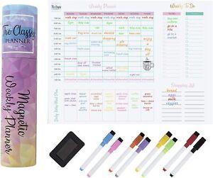 Magnetic Weekly Fridge Planner – Family Organiser from The Classy Planner