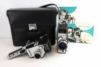 Bell & Howell Zoom Reflex Model 315 & Electric Eye 8mm Movie Camera Set of 2 Bag