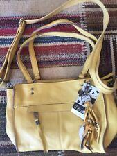 The Sak Leather Alameda Satchel Handbag Purse, Yellow, Brand New