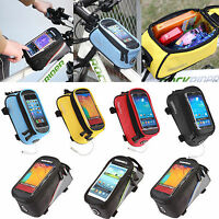Outdoor Purse Phone Case Holder Bag Pouch Cycling Bike Frame Front Tube Pannier