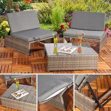 Sitzgarnitur Gartenmöbel Sitzgruppe Lounge Poly Rattan Möbel Set Gartengarnitur