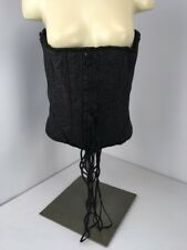 NWT Living Dead Souls Black Grey Floral Gothic Bustier Corset Rockabilly Pin-Up