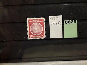 ^DDR (1954)  D 11x XII postfrisch (Lot 0629)