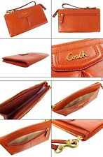 NWT Coach  Cherry  Leather Zippy Wallet Wristlet F48124 B4/VR $158.00