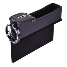 Left Car Seat Storage Box Cup Holder Storage Catcher Gap Filler Coin Collector