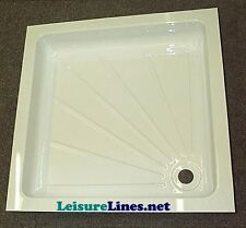 Shower Tray White PVC 585mm x 585mm x 95mm Caravan / Motorhome / Boat Wet Room