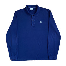 Vintage LACOSTE Polo Shirt | Size 6 (XL) | Navy Blue Classic Long Sleeve