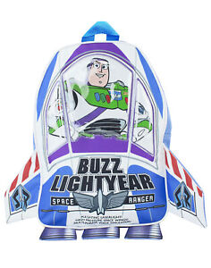 Disney Toy Story Backpack Kids Buzz Lightyear 3D Rocket Rucksack Bag One Size