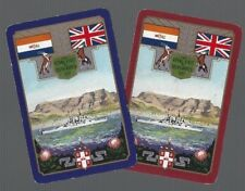 WORSHIPFUL 1947  PLAYING CARDS 2x SINGLE CARDS THE ROYAL VISIT TO SOUTH AFRICA 5