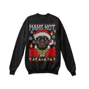 Funny 2019 Womens Christmas Sweatshirt Mans Not Hot - Big Shaq Xmas Sweater Tops