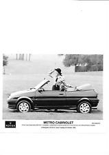 ROVER METRO CABRIOLET PRESS PHOTO 1992 FOR 1993 'SALES BROCHURE' CONNECTED