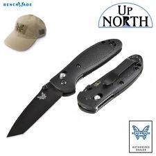 Benchmade 557BK Mini Griptilian AXIS Lock Knife Black Tanto Blade FREE HAT
