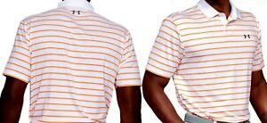 Under Armour mens $60 Performance 2.0 Textured Golf Polo Shirt white-orange M #5