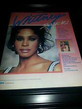 Whitney Houston You Give Good Love Rare Original Promo Poster Ad Framed!