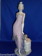 LLADRO Lady with Dog Large Figurine  Exquisite!