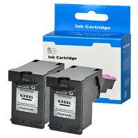 2PK Black Ink Cartridge For HP 63XL 63 XL Envy 4520 Officejet 3830 4650 F6U64AN