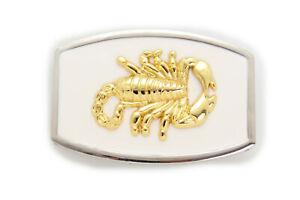 New Men Women Western Fashion Metal Belt Buckle Gold Scorpion White Color Unisex