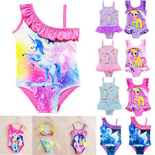 Kids Girls Cute Unicorn Swimwear Bikini Bathing Suit Swimsuit Beachwear Jumpsuit