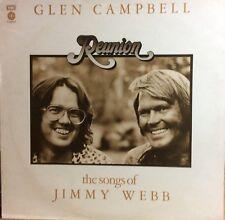 """GLEN CAMPBELL """"REUNION,the Songs of Jim Webb"""" 1974 UK capitol LP,COVER,INNER-VG"""