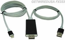 CONNECT & MIRROR A iPAD AIR & MINI TO A TV 8-PIN LIGHTING AV ADAPTER SYNC CABLE