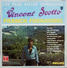 """RARE FRANCK FERNANDEL """"VINCENT SCOTTO"""" 60'S LP"""