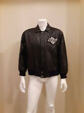 1990'S LOS ANGELES KINGS PRO PLAYER BY DANIEL YOUNG LEATHER JACKET LARGE S-XL