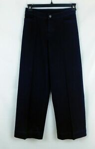 "Isaac Mizrahi Dark Wash Wide Leg Petite Blue Jeans 2P 29"" Inseam GREAT SHAPE!"