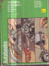 TRIUMPH 2000 Mk1 2.5 PI Mk1 Service Repair Workshop Manual 1963-1969