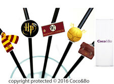 Coco&Bo 10 x Magical Wizarding Party Straws Harry Potter Theme Table Decorations