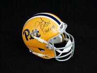 Jim Jimbo Covert Pittsburgh Panthers Signed Autograph Mini Helmet JSA COA