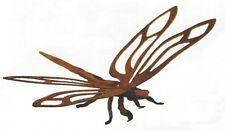 Libelle freistehend 3D Flügel 31cm Rost Edelrost Metall Gartendekoration