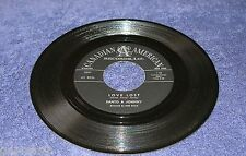Santo & Johnny 1960 Canadian American 45rpm Love Lost b/w Annie Hawaiian Steel