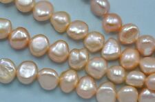 7-8mm Peach Champagne Pink Baroque Nugget Freshwater Pearls Beads a