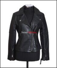Erica Women's Leather Jacket Black Biker Fashion Real Napa Leather Shirt Jacket