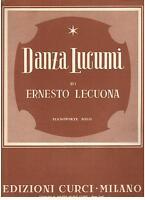 Lecuona: Dance Lucumi Für Klavier - Curci