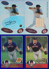 KEVIN YOUKILIS ROOKIE LOT! 2003 BOWMANS BEST AUTO & BAT, 2003 TOPPS CHROME REF +