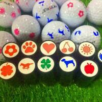1pc Plastic Quick-dry Golf Ball Stamp Stamper Marker New Impression Seal W2 F4R1