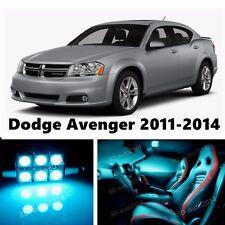 8pcs LED ICE Blue Light Interior Package Kit for Dodge Avenger 2011-2014